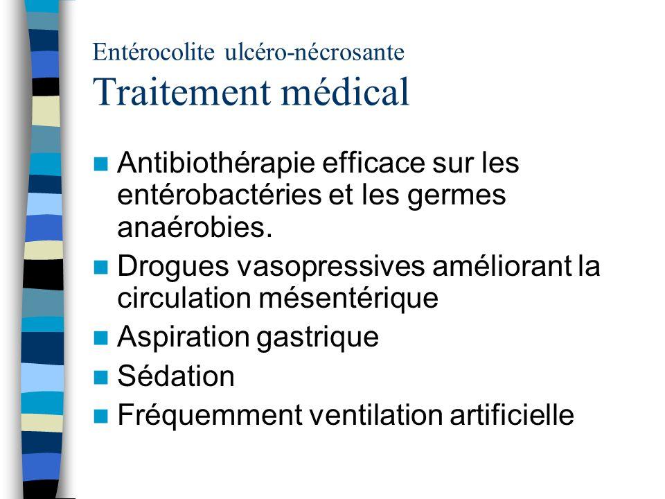 Entérocolite ulcéro-nécrosante Traitement médical