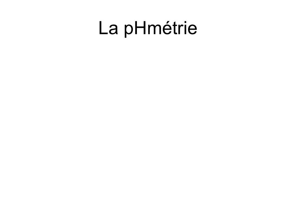 La pHmétrie