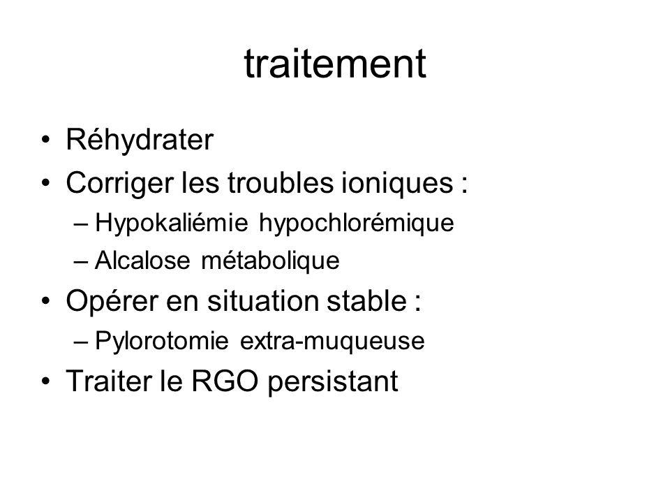 traitement Réhydrater Corriger les troubles ioniques :