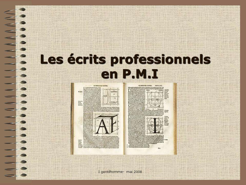 Les écrits professionnels en P.M.I
