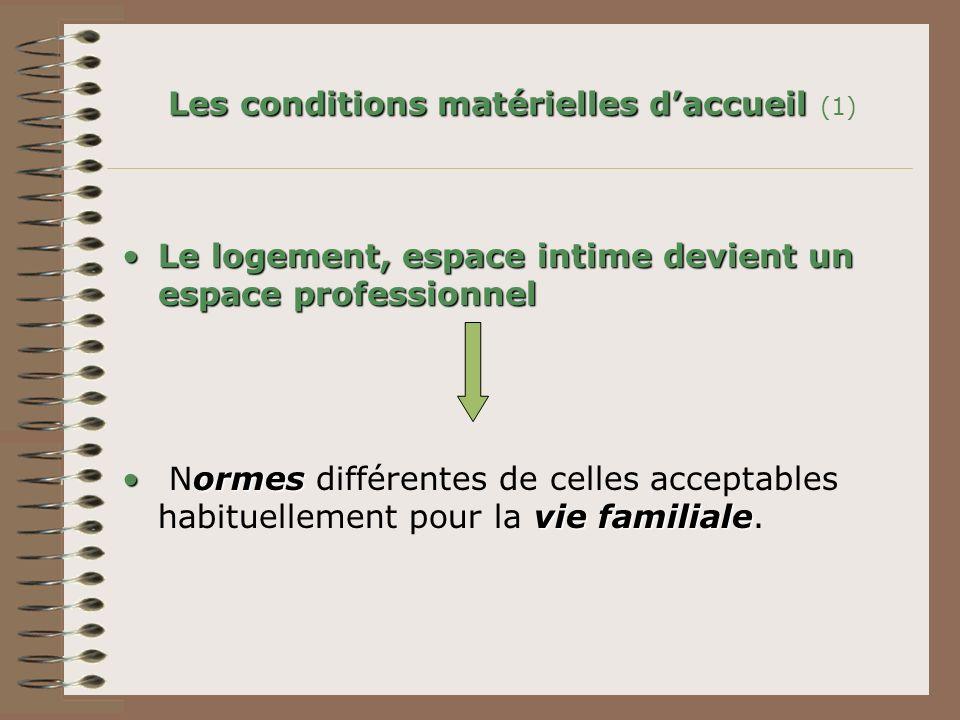 Les conditions matérielles d'accueil (1)