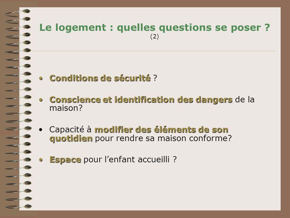 Le logement : quelles questions se poser (2)