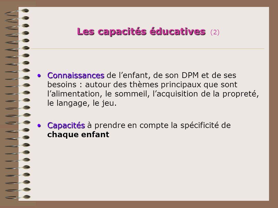 Les capacités éducatives (2)