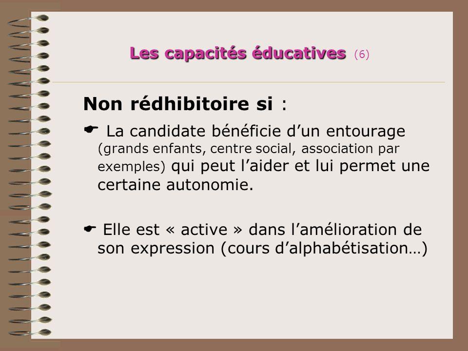 Les capacités éducatives (6)