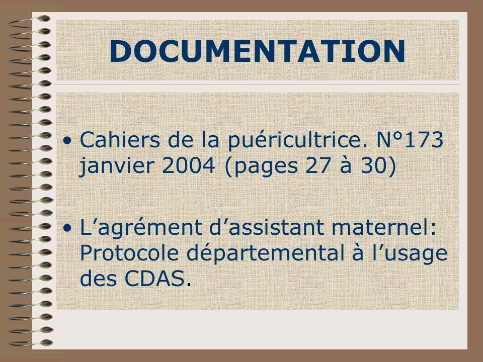 DOCUMENTATION Cahiers de la puéricultrice. N°173 janvier 2004 (pages 27 à 30)