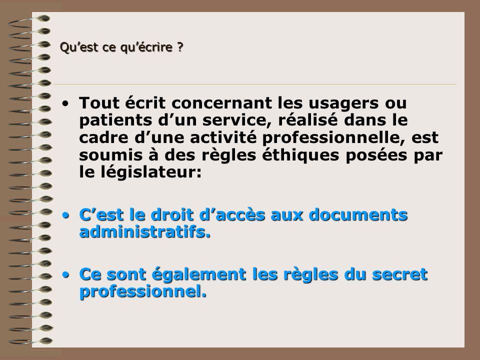 C'est le droit d'accès aux documents administratifs.