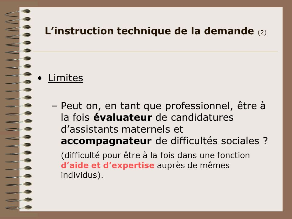 L'instruction technique de la demande (2)