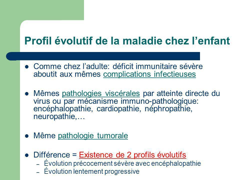Profil évolutif de la maladie chez l'enfant