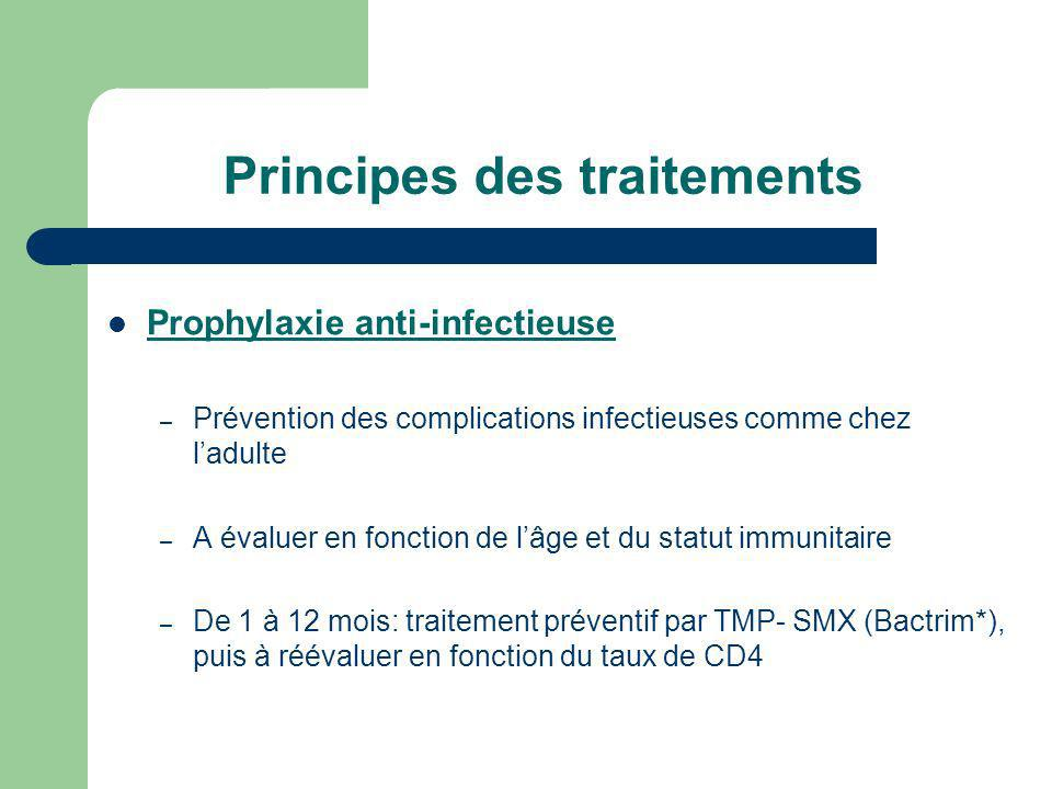 Principes des traitements