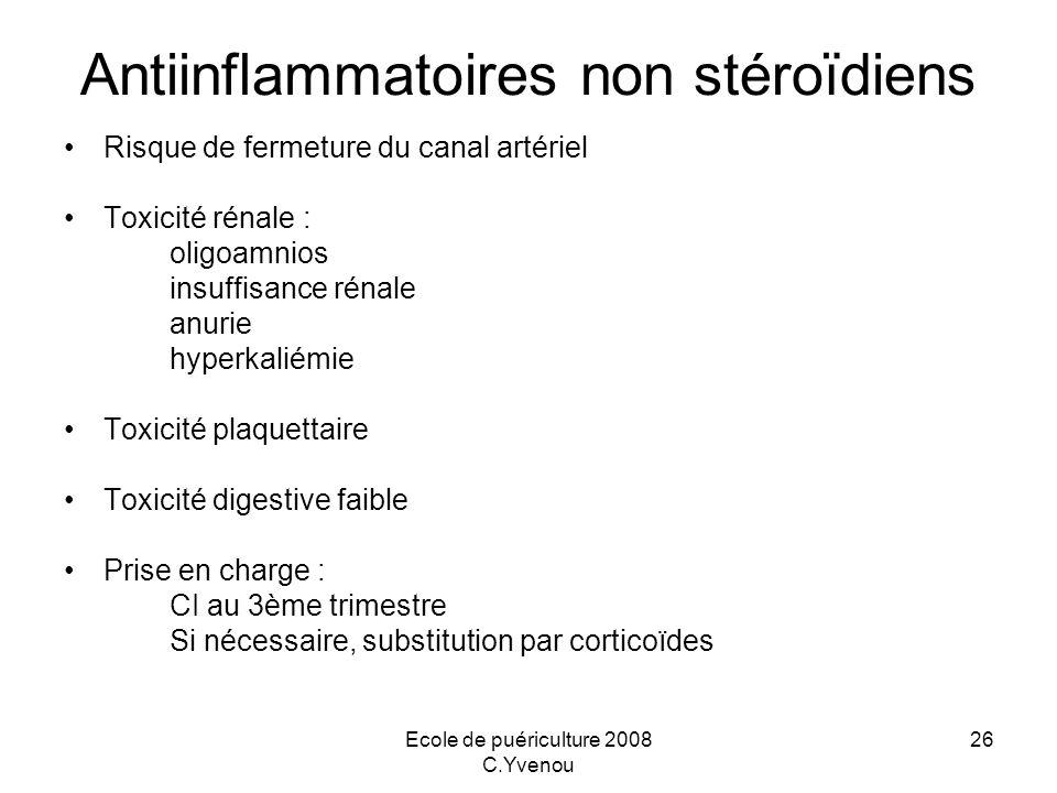 Antiinflammatoires non stéroïdiens