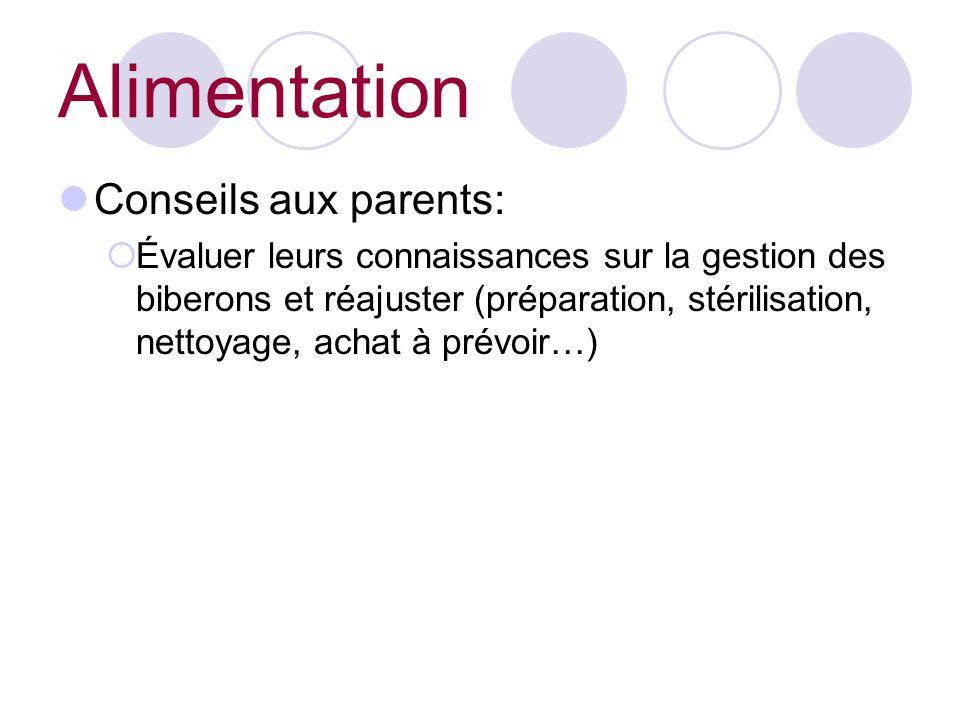 Alimentation Conseils aux parents: