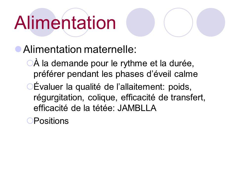 Alimentation Alimentation maternelle: