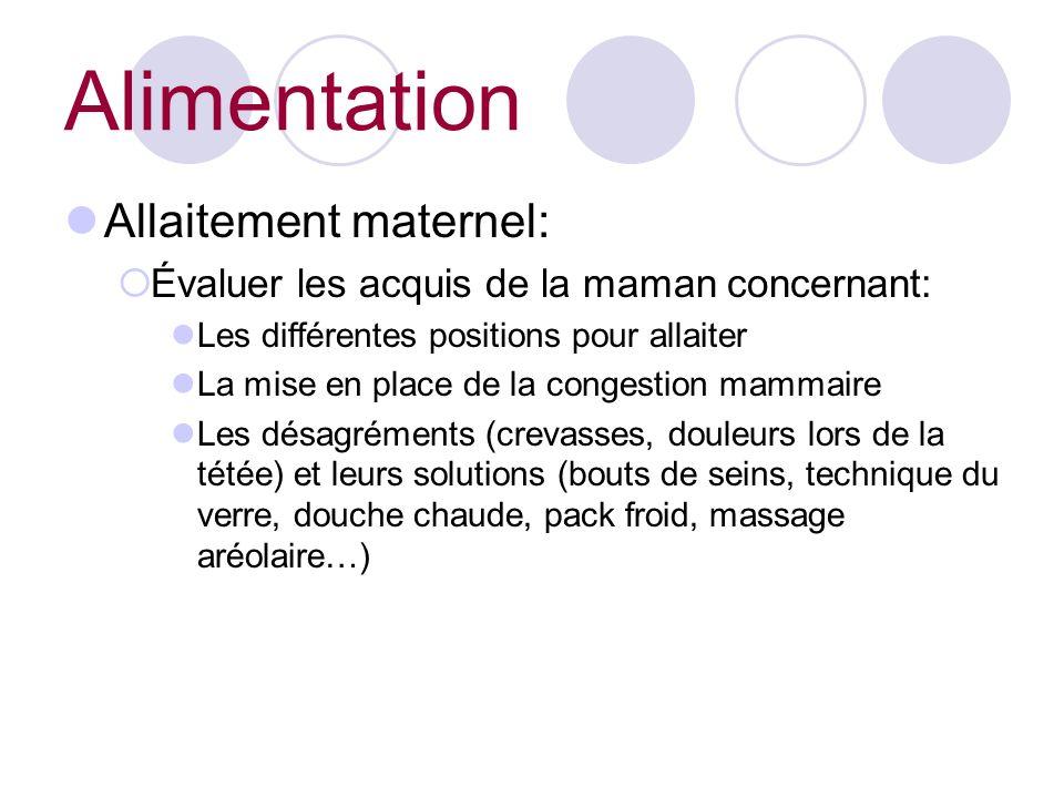 Alimentation Allaitement maternel: