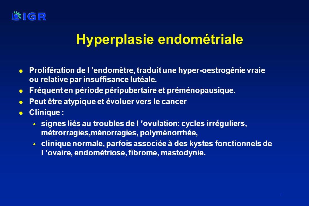 Hyperplasie endométriale