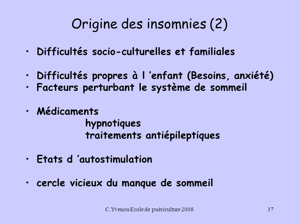 Origine des insomnies (2)