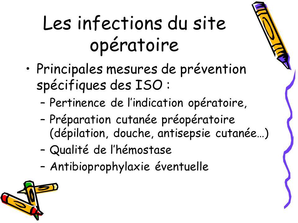Les infections du site opératoire