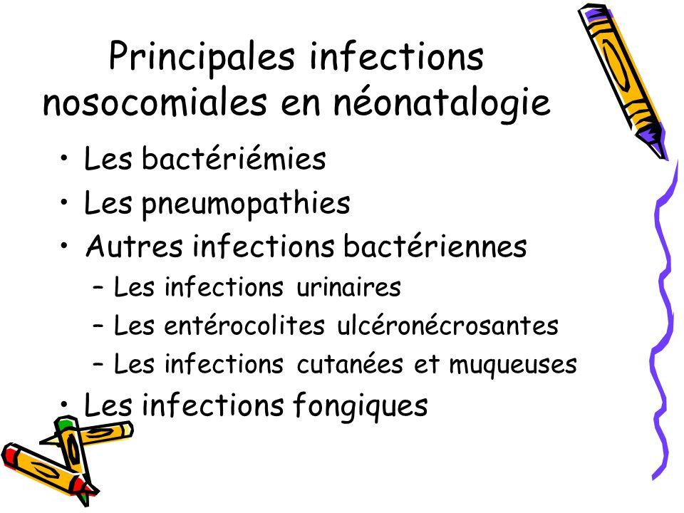 Principales infections nosocomiales en néonatalogie