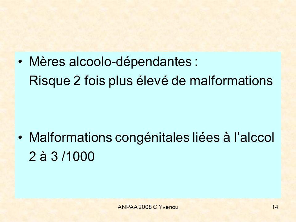 Mères alcoolo-dépendantes : Risque 2 fois plus élevé de malformations