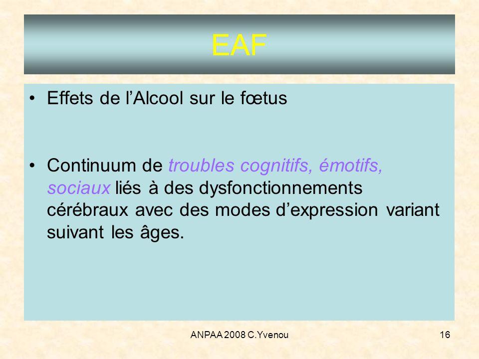 EAF Effets de l'Alcool sur le fœtus