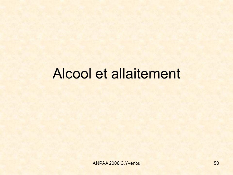 Alcool et allaitement ANPAA 2008 C.Yvenou
