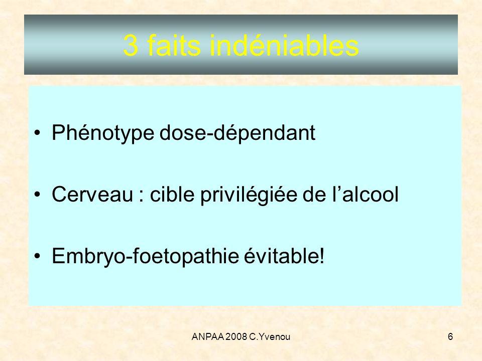 3 faits indéniables Phénotype dose-dépendant