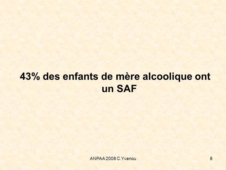 43% des enfants de mère alcoolique ont un SAF
