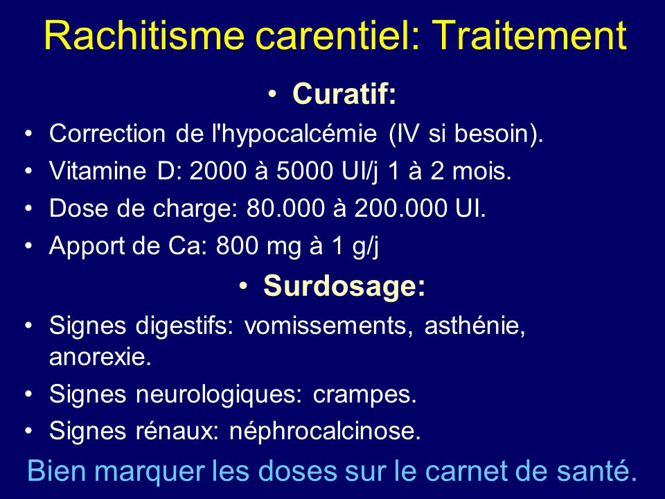 Rachitisme carentiel: Traitement