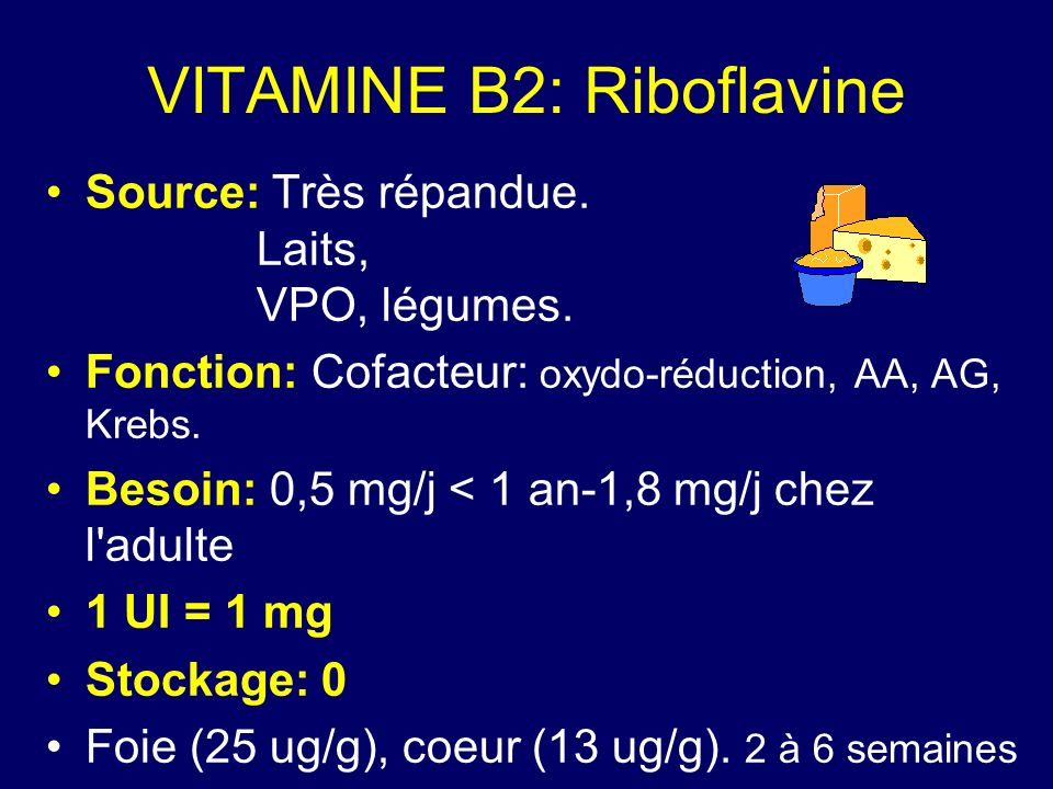VITAMINE B2: Riboflavine