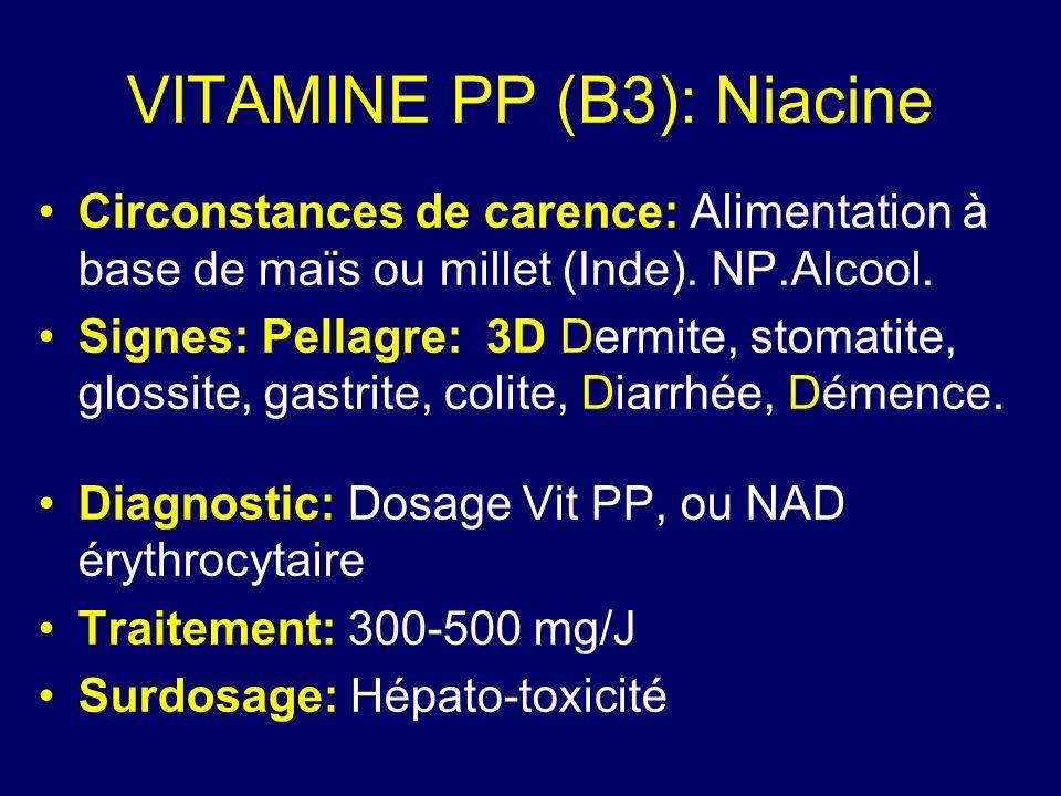 VITAMINE PP (B3): Niacine