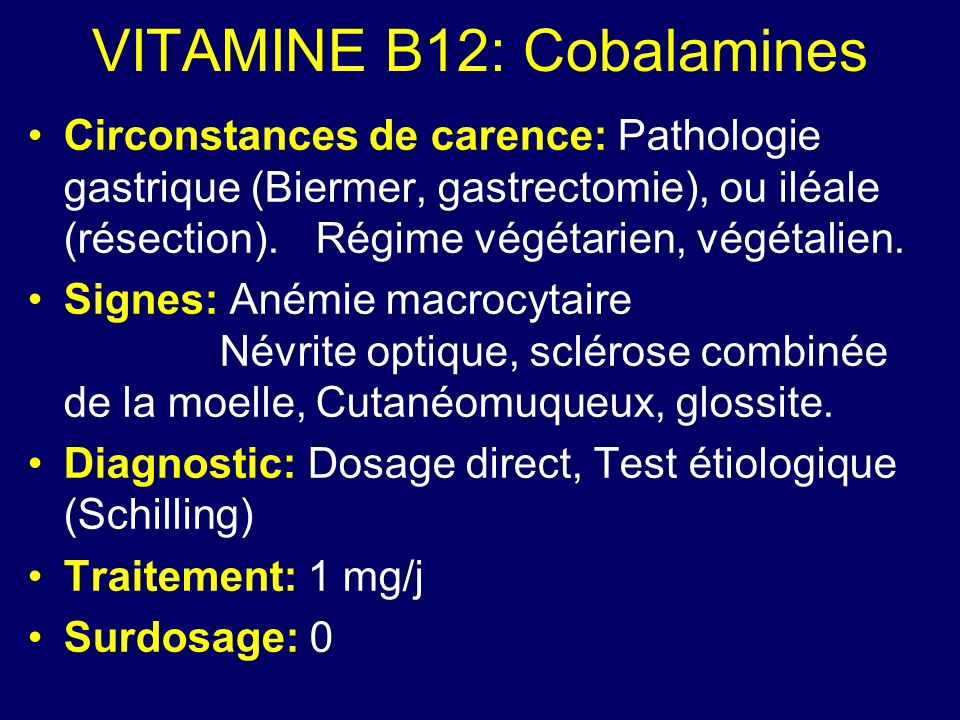 VITAMINE B12: Cobalamines