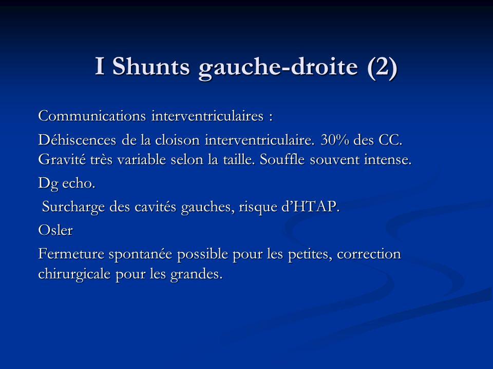 I Shunts gauche-droite (2)