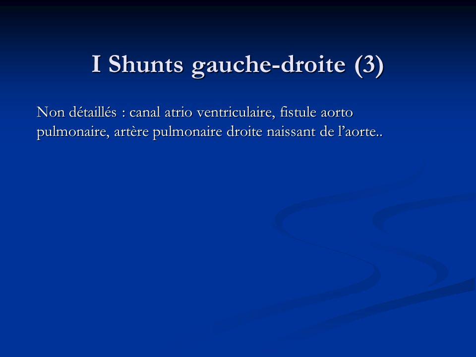 I Shunts gauche-droite (3)