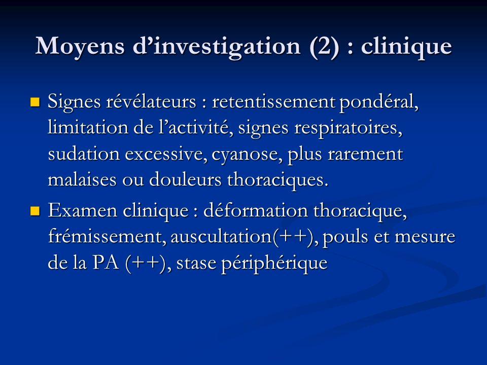 Moyens d'investigation (2) : clinique