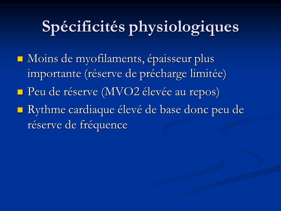 Spécificités physiologiques