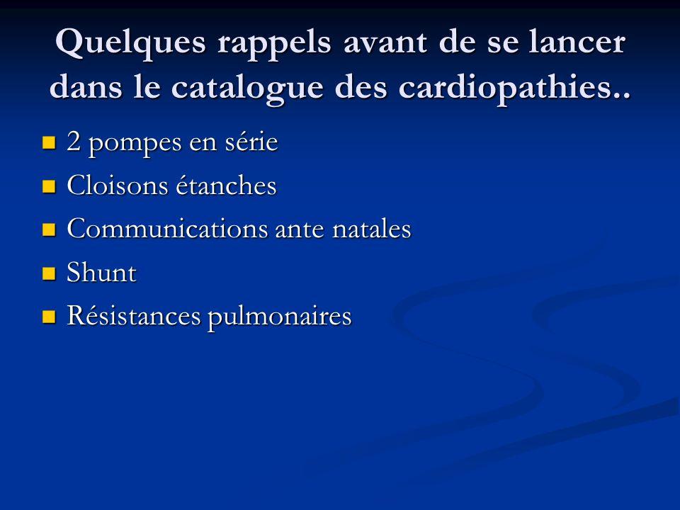 Quelques rappels avant de se lancer dans le catalogue des cardiopathies..