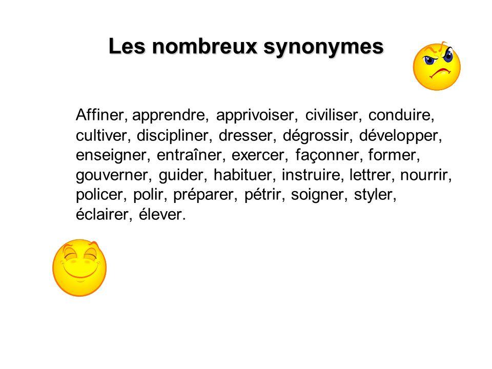 Les nombreux synonymes