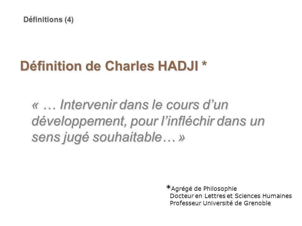Définition de Charles HADJI *