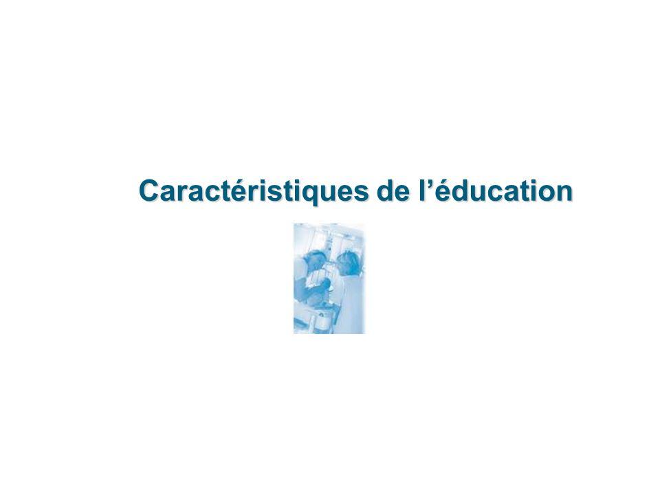 Caractéristiques de l'éducation