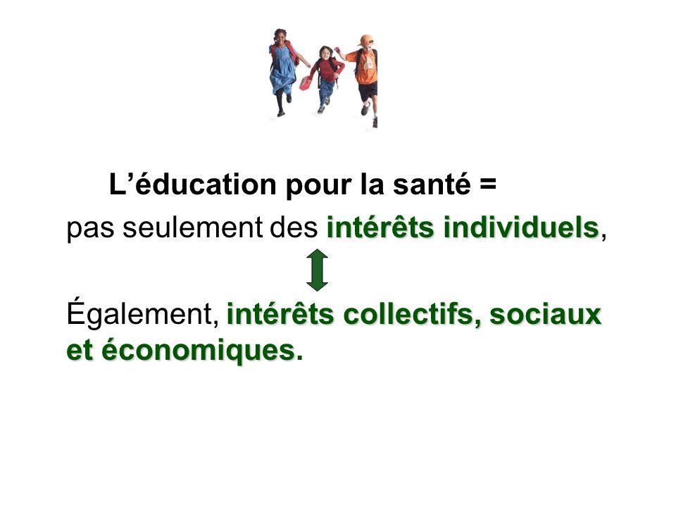 L'éducation pour la santé =