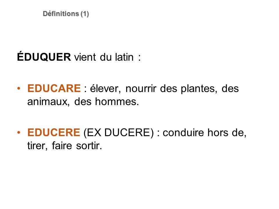ÉDUQUER vient du latin :