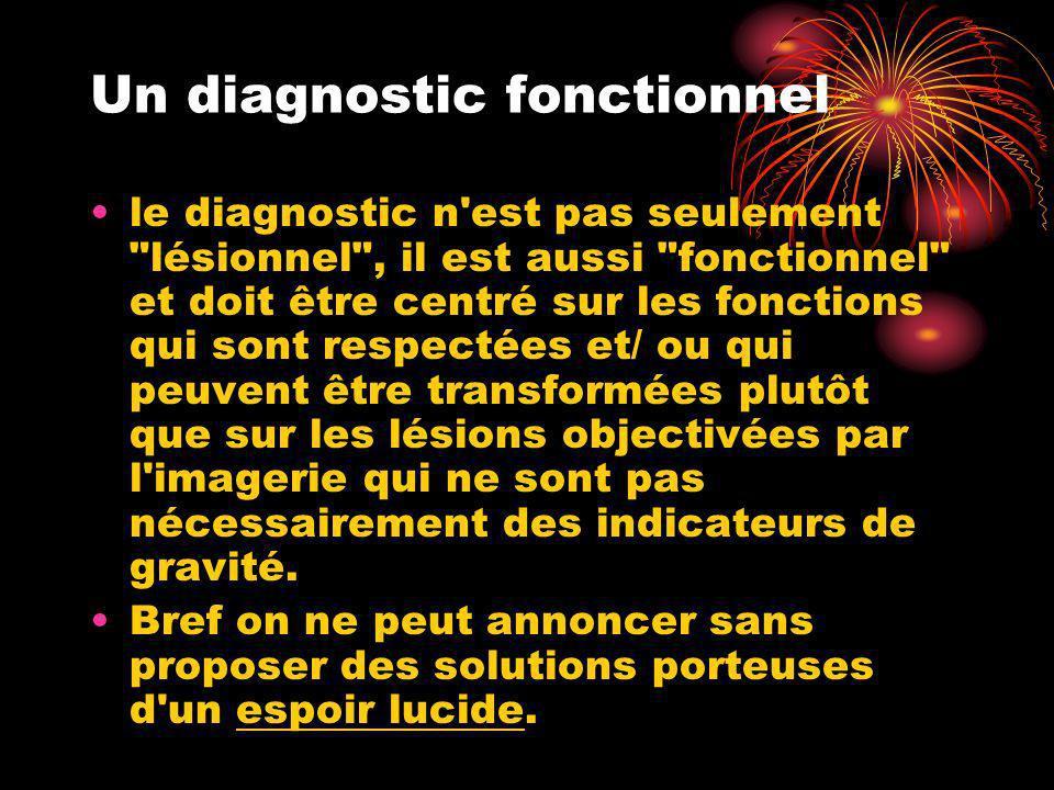 Un diagnostic fonctionnel