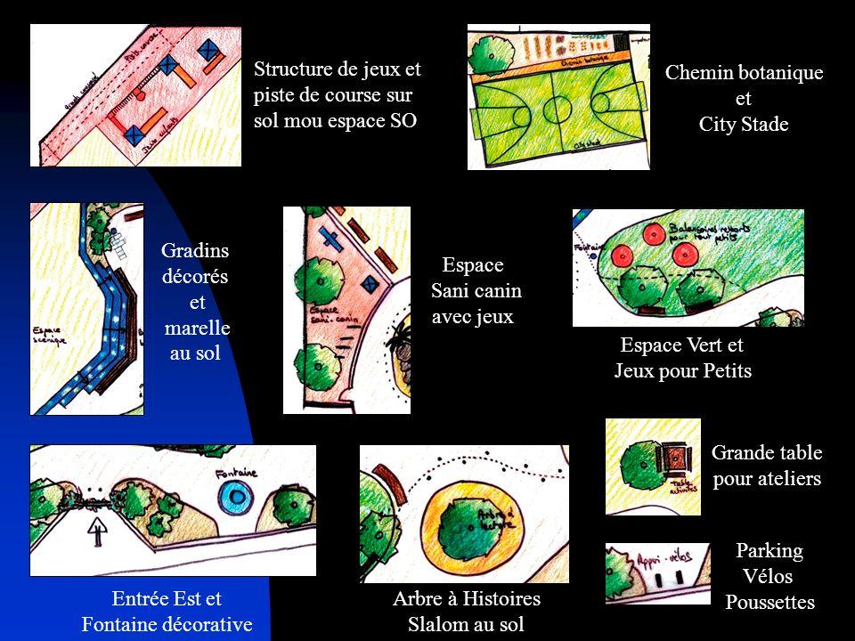 Structure de jeux et piste de course sur sol mou espace SO