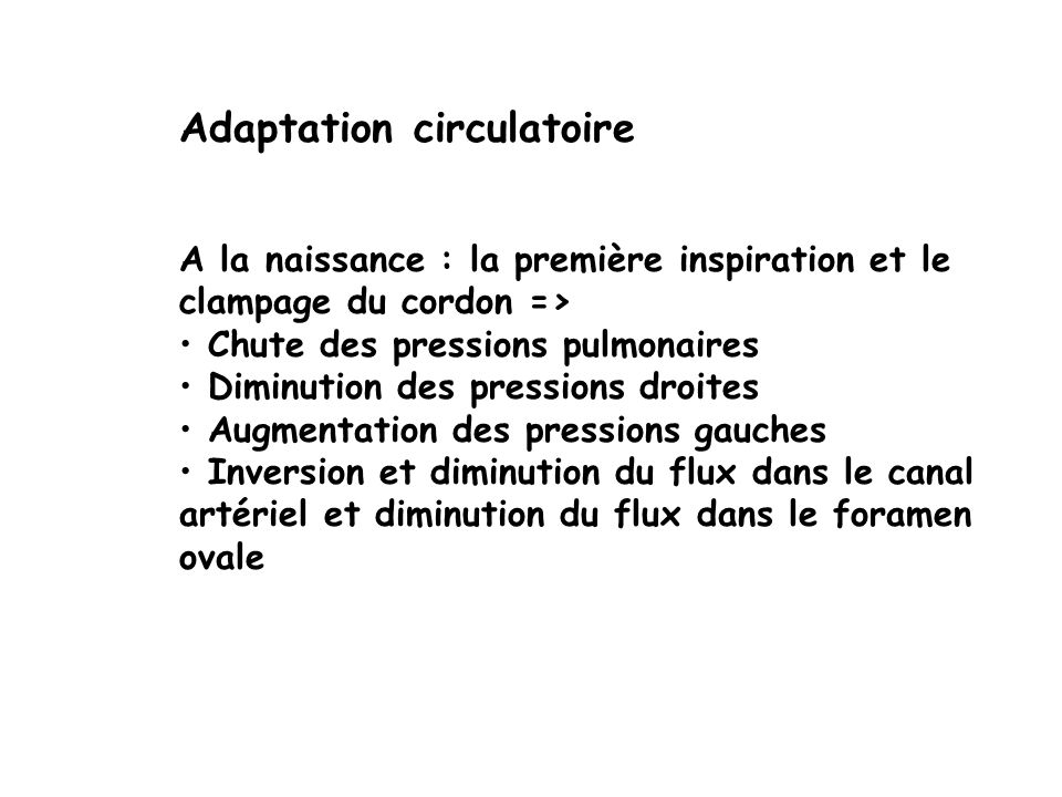 Adaptation circulatoire