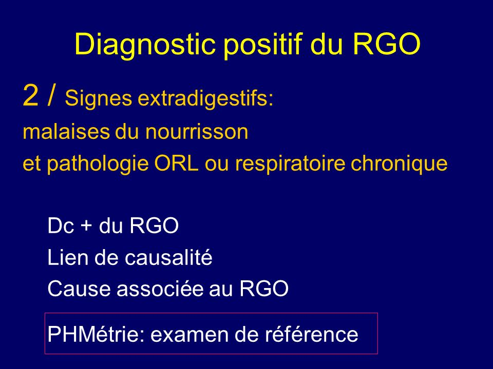 Diagnostic positif du RGO