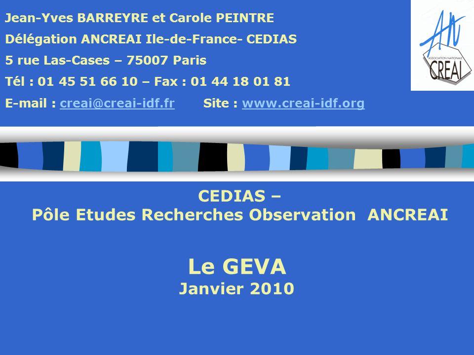 Pôle Etudes Recherches Observation ANCREAI