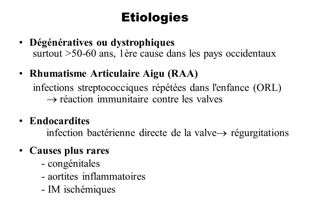 Etiologies Dégénératives ou dystrophiques