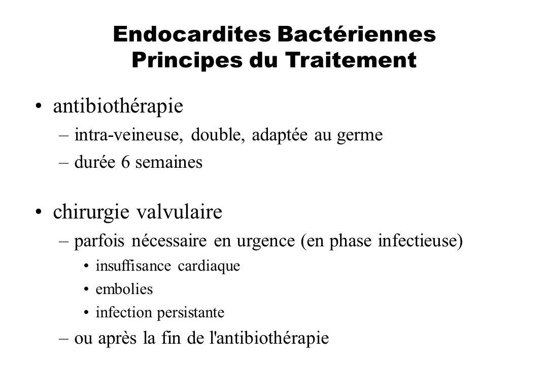 Endocardites Bactériennes Principes du Traitement