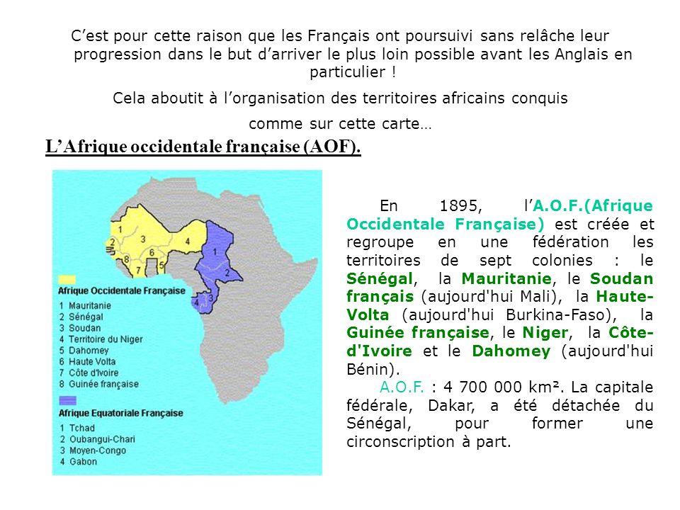 Cela aboutit à l'organisation des territoires africains conquis