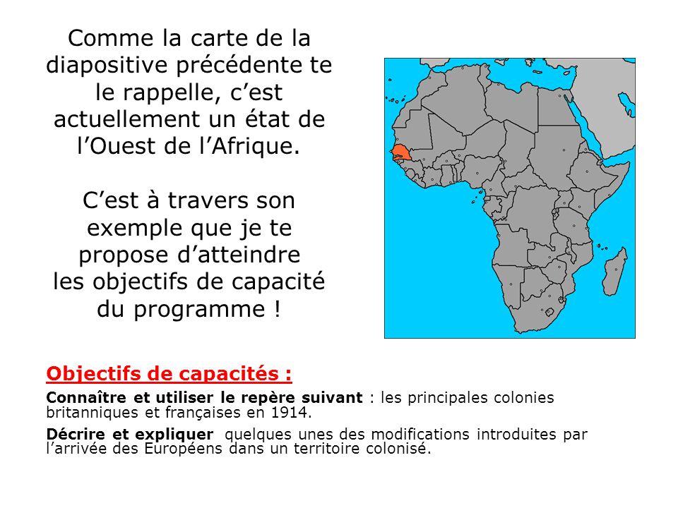 Comme la carte de la diapositive précédente te le rappelle, c'est actuellement un état de l'Ouest de l'Afrique. C'est à travers son exemple que je te propose d'atteindre les objectifs de capacité du programme !