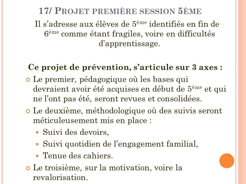 17/ Projet première session 5ème